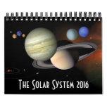 Astronomía de espacio de los planetas de la calendarios de pared