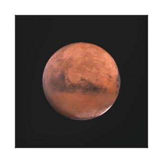 Astronomía de espacio marciana de Marte Impresion De Lienzo