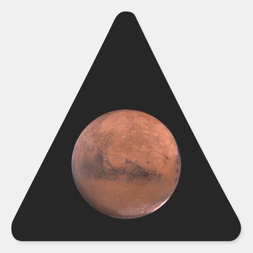 Astronomía de espacio marciana de Marte Calcomanías Triangulos Personalizadas
