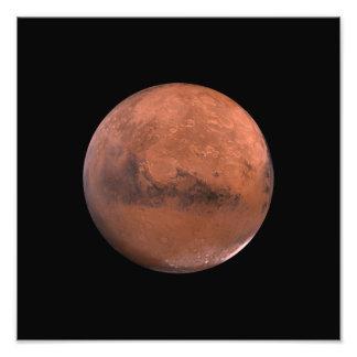 Astronomía de espacio marciana de Marte Impresión Fotográfica