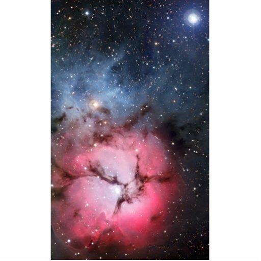 Astronomía de espacio trífida de la nebulosa esculturas fotográficas