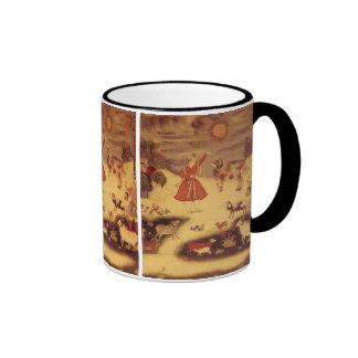 Astronomía del vintage bella arte celestial asiát tazas