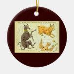 Astronomía del vintage, carta de estrella celestia adornos de navidad