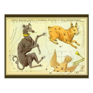 Astronomía del vintage, carta de estrella postal