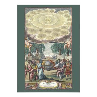 Astronomía del vintage, celestial, atlas por invitación 12,7 x 17,8 cm