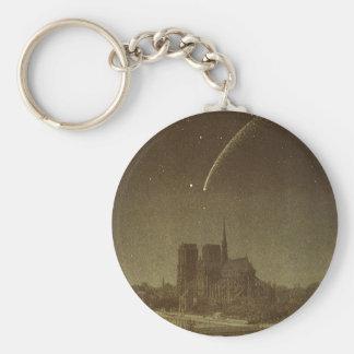 Astronomía del vintage, celestial, cometa de llaveros personalizados