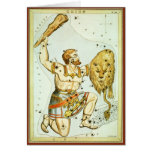 Astronomía del vintage, celestial, constelación de felicitaciones