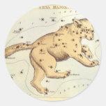 Astronomía del vintage, comandante de Ursa constel Etiqueta