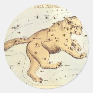 Astronomía del vintage comandante de Ursa constel Etiqueta