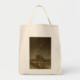 Astronomía del vintage, cometa de Donati sobre
