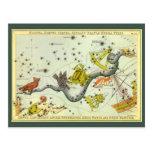 Astronomía del vintage, estrellas de la constelaci postales