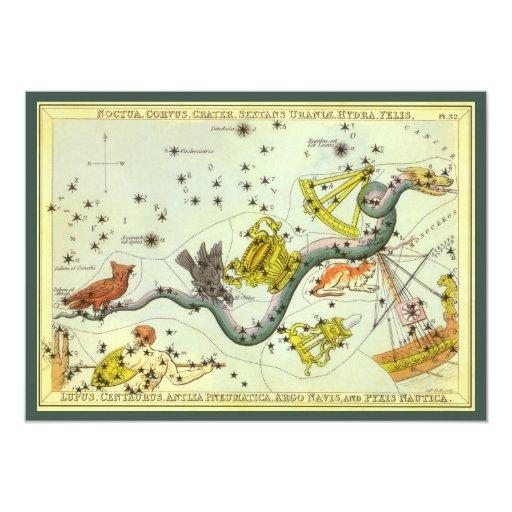 Astronomía del vintage, estrellas de la comunicados personalizados