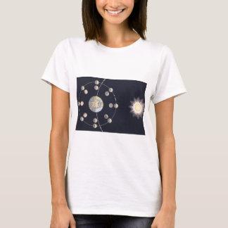Astronomía del vintage, fases de la luna con playera