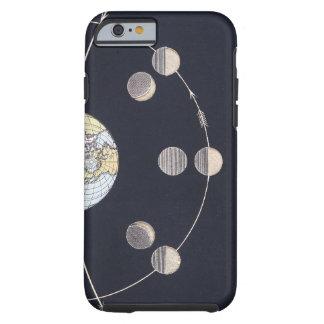 Astronomía del vintage, fases de la luna con Sun Funda De iPhone 6 Tough