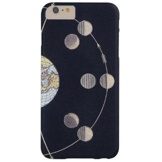 Astronomía del vintage, fases de la luna con Sun Funda Para iPhone 6 Plus Barely There
