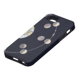 Astronomía del vintage, fases de la luna con Sun iPhone 5 Carcasas