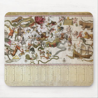 Astronomía del vintage mapa celestial de la carta alfombrilla de ratón