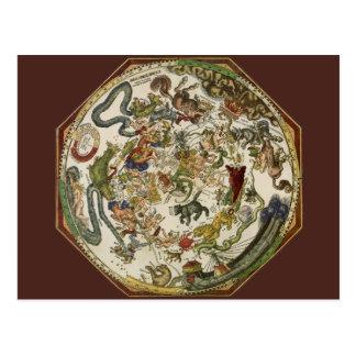 Astronomía del vintage, mapa celestial de Peter Ap Postales