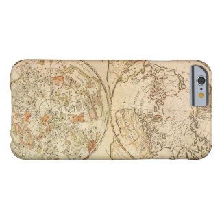 Astronomía del vintage, mapa celestial del funda de iPhone 6 barely there