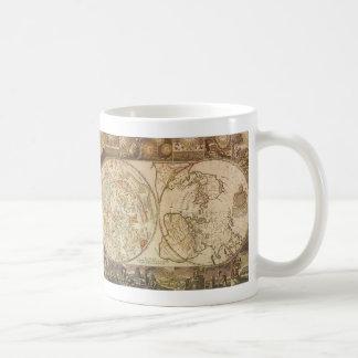 Astronomía del vintage mapa celestial del planisf tazas de café