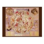 Astronomía del vintage, mapa de estrella celestial tarjetas postales