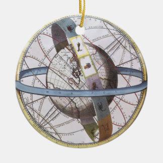 Astronomía del vintage, planisferio celestial del  ornaments para arbol de navidad