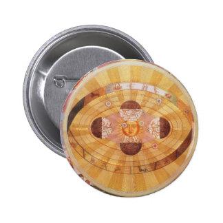 Astronomía del vintage, Sistema Solar Copernican Pin Redondo 5 Cm