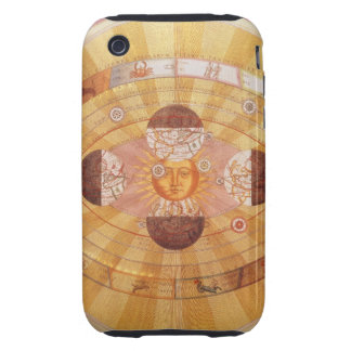 Astronomía del vintage, Sistema Solar Copernican Tough iPhone 3 Carcasas