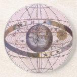 Astronomía del vintage, Sistema Solar Ptolemaic Posavasos Cerveza