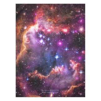 Astronomía, extremo del ala estrellado, pequeña mantel de tela
