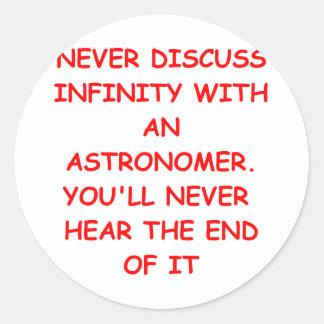 astronomía pegatinas redondas
