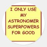 astronomía pegatina redonda