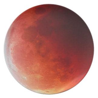 Astronomic Lunar Eclipse Moon Designer Plate