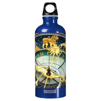 Astronomical Clock Aluminum Water Bottle