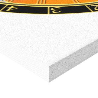 Astronomical clock canvas print