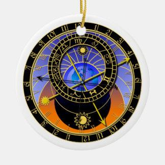 astronomical clock ceramic ornament