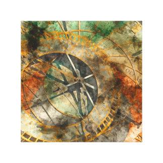 Astronomical Clock in Prague Czech Republic Canvas Print