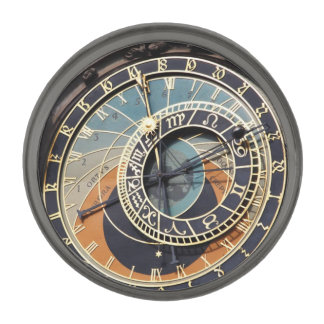 Astronomical Clock In Prague Gunmetal Finish Lapel Pin