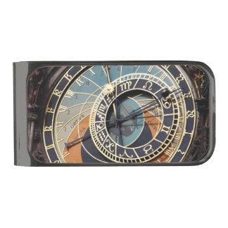 Astronomical Clock In Prague Gunmetal Finish Money Clip