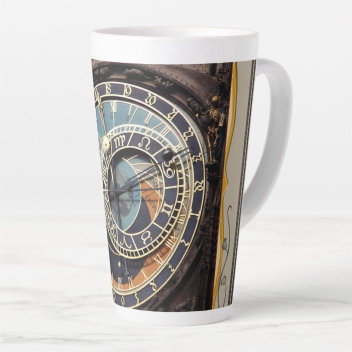Astronomical Clock In Prague Latte Mug Zazzle Com