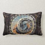 Astronomical Clock In Prague Throw Pillows