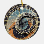Astronomical Clock In Praque Ceramic Ornament at Zazzle
