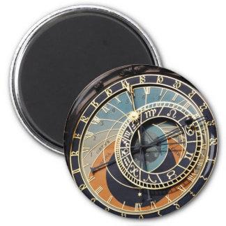 Astronomical Clock In Praque 2 Inch Round Magnet