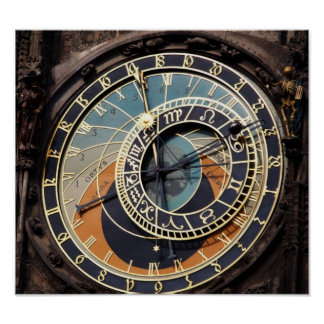 Astronomical Clock In Praque Poster