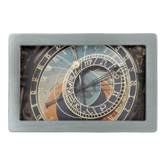 Astronomical Clock In Praque Rectangular Belt Buckle