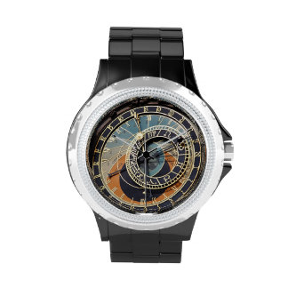 Astronomical Clock In Praque Wrist Watches