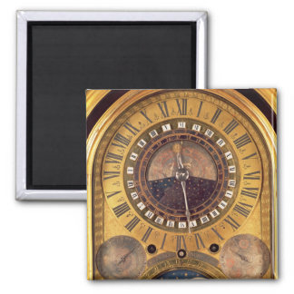 Astronomical clock made for the Grand Dauphin 2 Inch Square Magnet