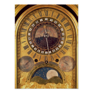 Astronomical clock made for the Grand Dauphin Poster