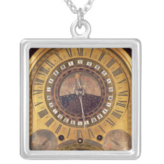 Astronomical clock made for the Grand Dauphin Square Pendant Necklace