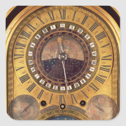 Astronomical clock made for the Grand Dauphin Square Sticker